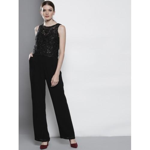e577a40f15 Buy DOROTHY PERKINS Black Lace Basic Jumpsuit online ...