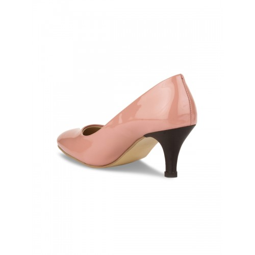 Bruno Manetti pink patent leather slip on pumps