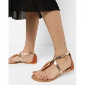 15aa67f8da7 Buy AJIO T-strap Flat Sandals with Buckle Closure online