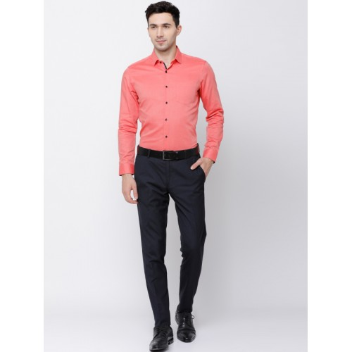 e0faf2825c Buy Black coffee Men Coral Slim Fit Solid Formal Shirt online ...