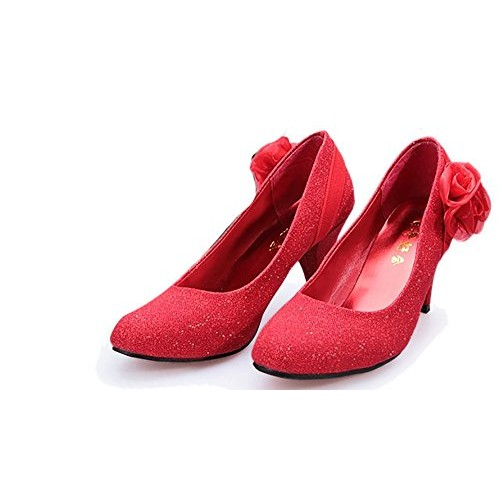 new concept 4bd92 d9a50 Buy THE LONDON STORE New 2018 Women Wedding Shoes Red ...
