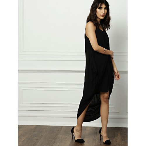All About You all about you from Deepika Padukone Women Black Solid Wrap Dress