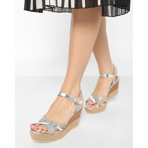 8d88af42abee Buy AJIO Ankle-Strap Wedges with Braided Midsole online