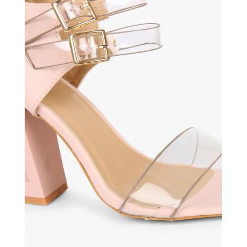 166e0dd7a1a Buy AJIO Chunky Heeled Stilettos with Buckle online