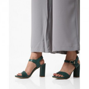 AJIO Chunky Heeled Sandals