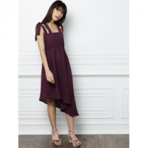 all about you from Deepika Padukone Burgundy Solid A-Line Dress