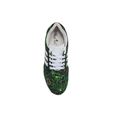 Magic Tree Women's Light Weight Printed Sneaker Casual Shoes