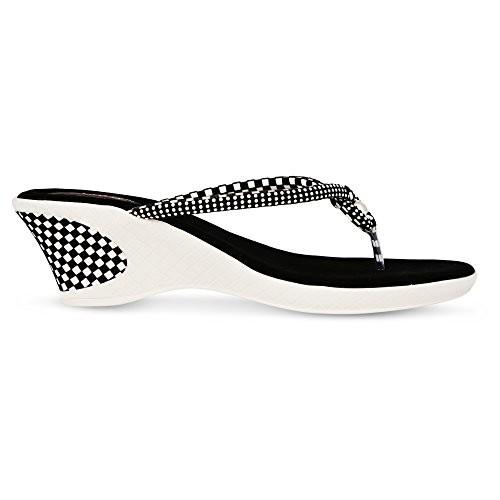 Denill Designer Black Velvet Slip-on Chappal
