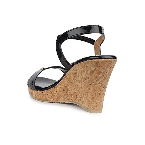 SHOFIEE Synthetic Cork Sole with Wedges Heels
