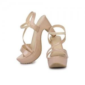Beauty Queen Women Peach Heels