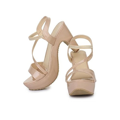 Beauty Queen Women Peach Heels