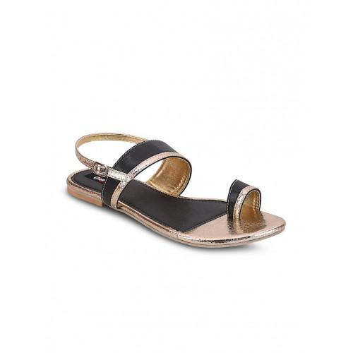 GET GLAMR black leatherette sandal