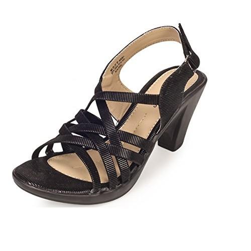08214c1f1808 Buy Khadims Womens Black Faux Leather Block Heel sandal - 5 ...