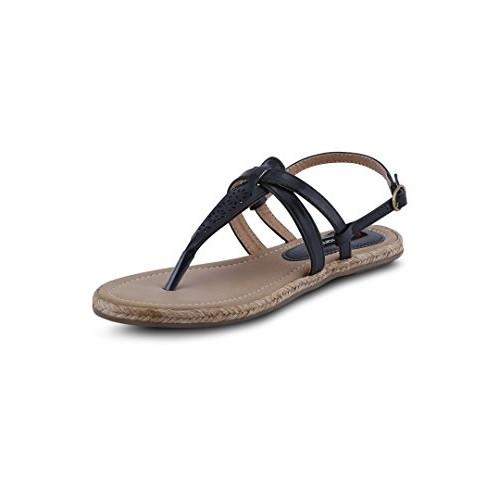 9e555fef760ad4 Buy GET GLAMR Women s Black Sandals online