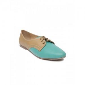 Lavie Women Blue & Brown Colourblocked Casual Shoes