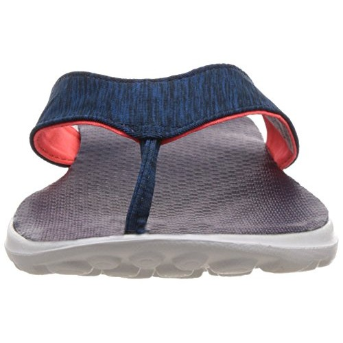 Skechers On-The-Go - Flow Grey and Hot Pink Slippers