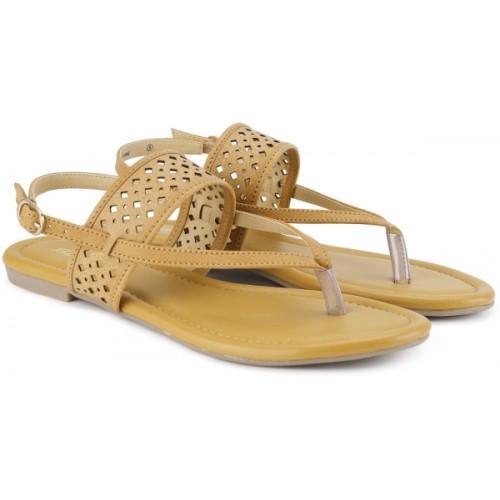Buy Bata Tan Synthetic Platten Fashion Sandals Online Looksgud In