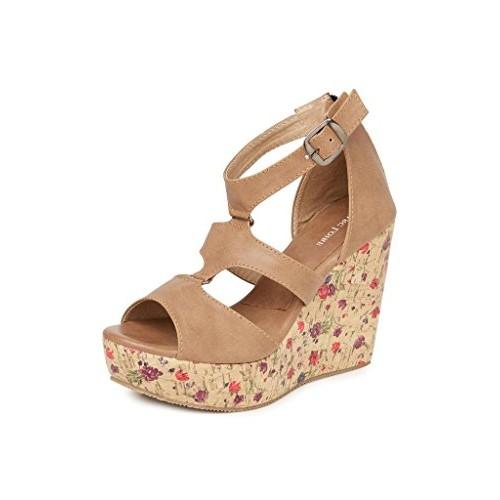 14807b427 ... MarcLoire Women s Solid Opentoe Tan Wedge Heels(ML0010460136) ...