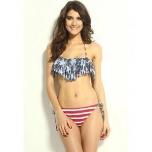 N-Gal Multicoloured Printed Bikini Swimsuit