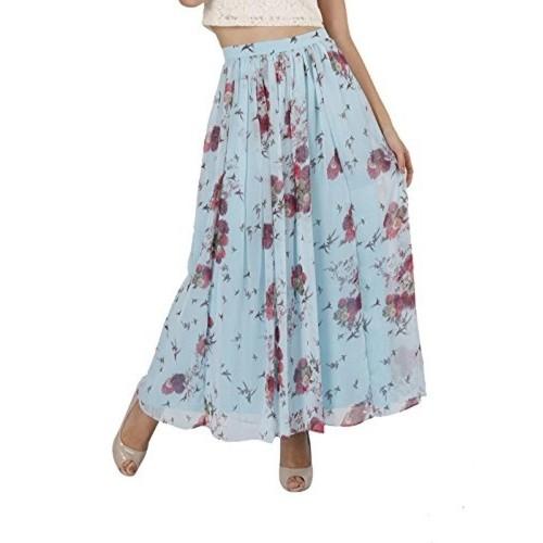 Light Blue Maxi Skirt - Skirts