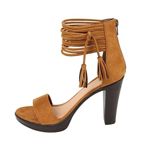 Catwalk Tan Suede Heeled Sandal