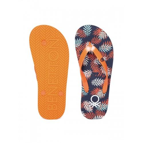 United Colors of Benetton Orange Flip Flops
