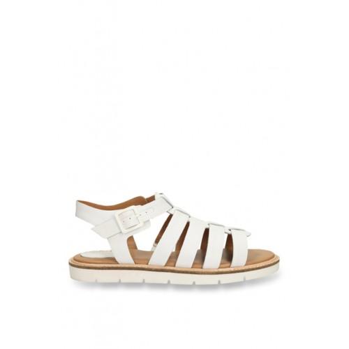 96162299de3d Buy Clarks Lydie Kona White Fisherman Sandals online