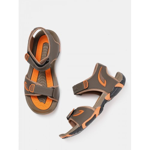 a73dba997 Buy Roadster Men Brown   Orange Sports Sandals online