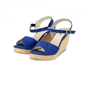 Nell Women Blue Solid Wedges