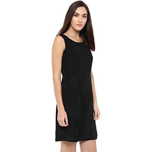 f6956a02bc2 Buy 109 F A Line Plain Black Dress online