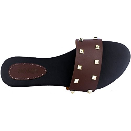 90ce09ee397e13 Buy Brown Mate Finish Flats