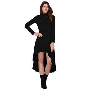 Rigo Black Cotton High Low Dress