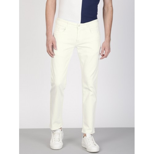 ether Men White Skinny Fit Mid-Rise Clean Look Stretchable Jeans