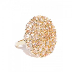 Jewels Galaxy Gold-Toned Stone-Studded Adjustable Ring