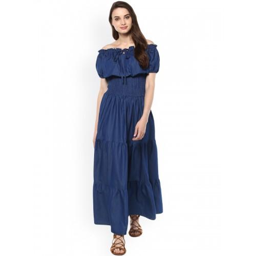 Stylestone Blue Elasticated Maxi Dress