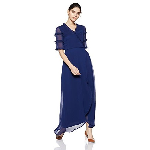90ccd4f3f Buy Cover Story Women s Empire Synthetic Maxi Dress online