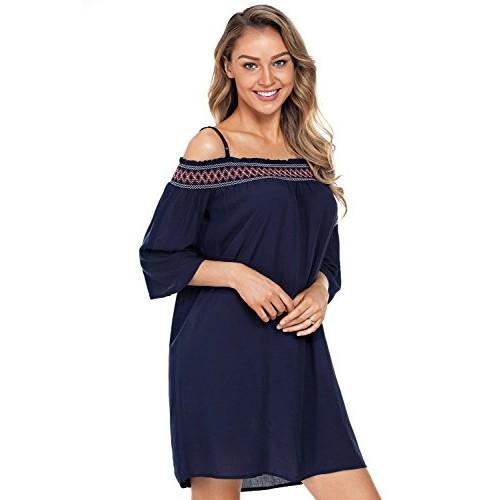 afcb41d0eab4 ... Boldgal Girl s Western wear Short Party Off Shoulder Dress (Blue) ...