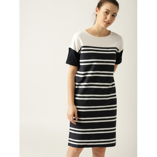 444b7a3165b Navy Blue And White Striped T Shirt Dress - The Best Style Dress In 2018