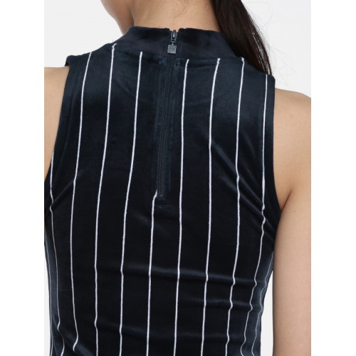 FILA Women Navy Striped Bodycon Dress