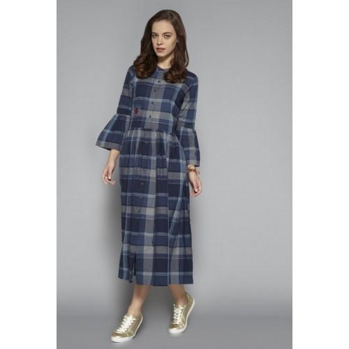 4242b2e4c7f24 Buy Bombay Paisley by Westside Dark Navy Pure Cotton Dress online ...