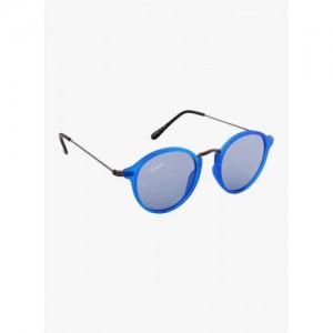 Camerii Blue Full Frame Round Sunglasses