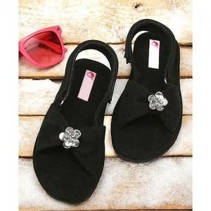 d601e0a76 Buy D chica Flower Applique Peep Toes Sandal Booties - Light Yellow ...