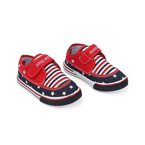 Cute Walk by Babyhug Cute Walk By Babyhug Casual Shoes With Star & Stripe Design - Red Navy