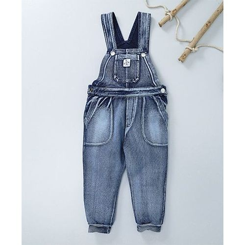 056c862daf ... Babyoye Denim Washed Dungaree With Half Sleeves Tee - Blue ...