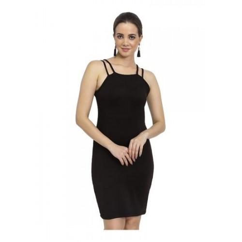 a794f4510b Buy Chimpaaanzee Women Bodycon Starp Dress Black online