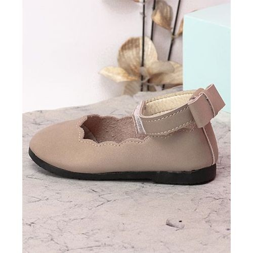 Kidlingss Pink Artificial Leather Ankle Strap Bellies