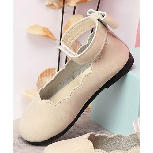 Kidlingss Beige Artificial Leather Ankle Strap Bellies