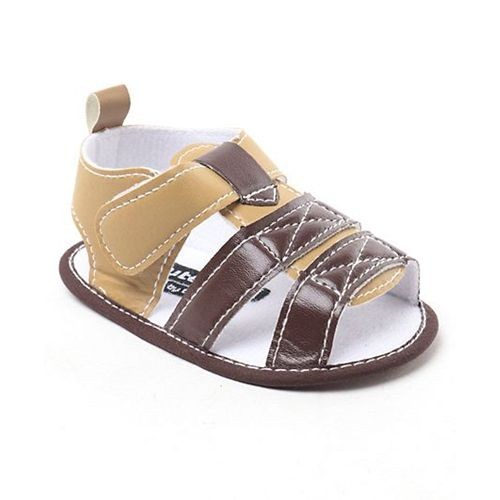 3f41e71eb30b Buy Cute Walk By Babyhug Sandal Style Booties - Cream Brown online ...