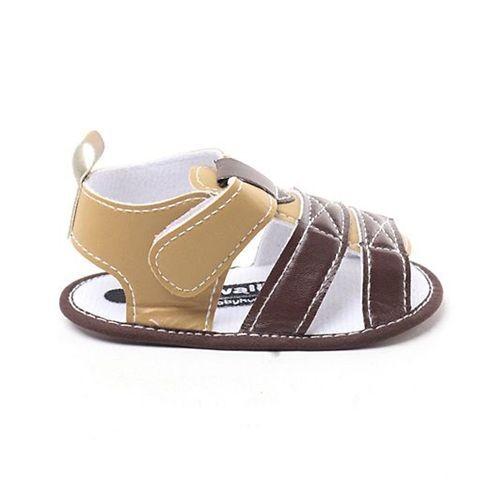 Cute Walk By Babyhug Sandal Style Booties - Cream Brown