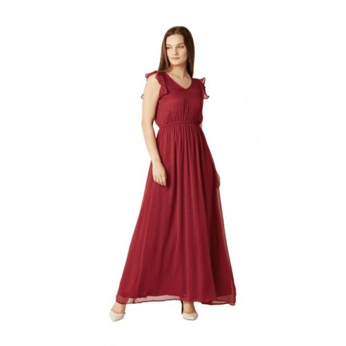 fe9a0c2b3bc Buy Miss Chase Red Slim Fit Maxi Dress online